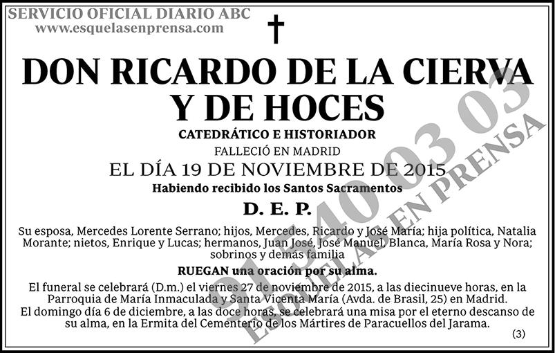Ricardo de la Cierva y de Hoces